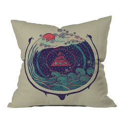 DENY Designs - DENY Designs Hector Mansilla Water Throw Pillow - Wanna transform a serious room into a fun, inviting space? Looking to complete a room full of solids with a unique print? Need to add a pop of color to your dull, lackluster space? Accomplish all of the above with one simple, yet powerful home accessory we like to call the DENY throw pillow collection! Custom printed in the USA for every order.