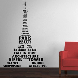 StickONmania - Eiffel Tower Sticker - An interesting quote with stylish lettering for your wall. Decorate your home with original vinyl decals made to order in our shop located in the USA. We only use the best equipment and materials to guarantee the everlasting quality of each vinyl sticker. Our original wall art design stickers are easy to apply on most flat surfaces, including slightly textured walls, windows, mirrors, or any smooth surface. Some wall decals may come in multiple pieces due to the size of the design, different sizes of most of our vinyl stickers are available, please message us for a quote. Interior wall decor stickers come with a MATTE finish that is easier to remove from painted surfaces but Exterior stickers for cars,  bathrooms and refrigerators come with a stickier GLOSSY finish that can also be used for exterior purposes. We DO NOT recommend using glossy finish stickers on walls. All of our Vinyl wall decals are removable but not re-positionable, simply peel and stick, no glue or chemicals needed. Our decals always come with instructions and if you order from Houzz we will always add a small thank you gift.
