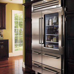 Sub-Zero Pro 48 Refrigeration - Sub-Zero's Pro 48 Refrigerator.  The glass door can be swapped out for a full stainless door.