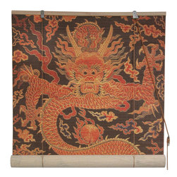 Dragon Design Bamboo Blinds - This dragon bamboo matchstick blind is available in five sizes for a very unusual and well-priced window treatment.