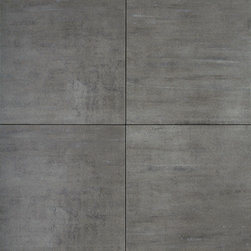 Refin - Artech Grigio (Grey) 12 x 24 - Faint luminescent striations in these tiles, create just a hint of opalescent texture which makes this otherwise very mature, minimalist tile sparkle. This understated patterning makes the Artec Collection ideal for ultra-modern settings. These through-body porcelain tiles excel in terms of durability & wear resistance.