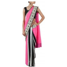 Pink embroidered Saree available only at Pernia's Pop-Up Shop.