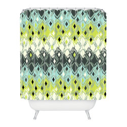 DENY Designs - Sarah Watts Snakeskin Shower Curtain - Who says bathrooms can't be fun? To get the most bang for your buck, start with an artistic, inventive shower curtain. We've got endless options that will really make your bathroom pop. Heck, your guests may start spending a little extra time in there because of it!