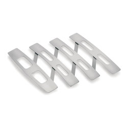 Blomus - Justin Stainless Steel Expanding Trivet - Expandable. Made of stainless steel. Designed by Floz design. 1-Year manufacturer's defect warranty. 6.12 - 17.78 in. L x 8.69 in. W x 0.79 in. H