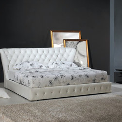 Nina Bed Frame - Opulent, genuine hand-tufted leather and magnificent design cues make the Nina Modern Leather Bed Frame fit for a King or Queen.