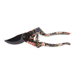 "William Morris ""Cray"" Print Pruners - These pruners are based on the chintz arts and crafts style first created by William Morris in the 1880s. I love that a pattern known for frilly wall paper is being used on pruners."