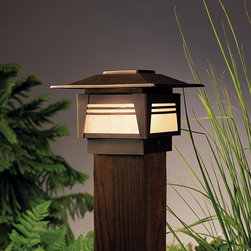 Kichler Lighting - Kichler Lighting - 15071OZ - Zen Garden - One Light Deck Post Lamp - The innovative leader in decorative light fixtures, lamps, and home accessories.