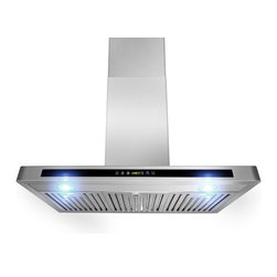 """AKDY - AKDY AG-ZH503A Euro Stainless Steel Wall Mount Range Hood, 30"""" - Merging form and function beautifully, every model includes innovative ultra quiet operation features, powerful air circulation, and contemporary styling. Refined form and industry-leading functionality are sure to complement any kitchen, as well as the individuals who cook in them. Hi-tech meets high style with a minimum of fuss with the H503A model. Powerful 760 cfm blowers, three speed levels, dual LED lights, and a delay off function instill appliance envy in even the most sophisticated kitchens. Centrifugal blowers automatically liquefy cooking residue without complex filters. Simply spray detergent into the no-stick blowers while on low speed, and the residue will collect for easy disposal. Nice!"""