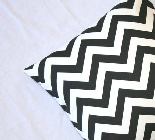 Premier Prints Black and White Chevron Pillow by Modernality - You cannot go wrong with a few classic black and white pieces in a space. It is a color combination that is both neutral and bold at the same time. These geometric pillows are a great example.