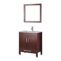 Adornus - Adornus AMADIS-30-C-C Chestnut Vanity - * Floor standing all Wood Vanity.