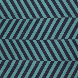 Jaipur Rugs - Flat-Weave Stripe Pattern Wool Blue/ Area Rug (5 x 8) - An array of simple flat weave designs in 100% wool - from simple modern geometrics to stripes and Ikats. Colors look modern and fresh and very contemporary.