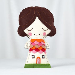Ms. Tulip Stitch Kit - This sweet sewing kit is sure to please both the kid and the parent. I just love all the details of this little doll.