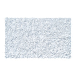 THE RUG MARKET - SHAGGY RAGGY WHITE, 4.7x7.7 - THIS AREA RUG IS MADE OF COTTON JERSEY.