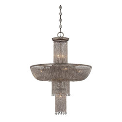minka group - Metropolitan N7208 Shimmering Falls 24 Inch Chandelier - About this Product