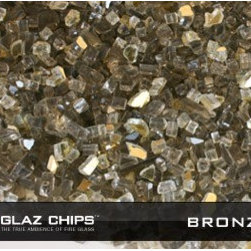 1/4 Inch Bronze and Gold Mix Fireglass (10lbs) - Bronze and gold fireglass is the modern alternative to faux logs and lava rocks. It will reflect your gas fire and give it a heady glow.