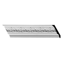 "Ekena Millwork - 3 1/2""H x 3 7/8""P x 5 1/4""F x 94 1/2""L Lisbon Dentil Crown Moulding - 3 1/2""H x 3 7/8""P x 5 1/4""F x 94 1/2""L Lisbon Dentil Crown Moulding. Our beautiful panel moulding and corners add a decorative, historic feel to walls, ceilings and furniture pieces- They are made from a high-density urethane which gives each piece the unique details that mimic that of traditional plasting and wood designs but at a fraction of the weight- This means a simple and easy installation for you- The best part is that you can make your own shapes and sizes by simply cutting the moulding pieces down to size and then butting them up to the decorative corners- These are also commonly used for an inexpensive wainscot look-Features- Modeled after original historical patterns and designs-- Constructed from solid urethane for maximum durability and detail-- Lightweight for quick and easy installation-- Factory-primed and ready for paint or faux finish-- Can be cut, drilled, glued and screwed-- Designed for use on both interior and exterior applications-- Material- Urethane"