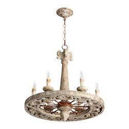 Cyan Design - Malouet Six Light Chandelier - Malouet six light chandelier - nantucket gray