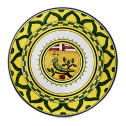 Artistica - Hand Made in Italy - PALIO DI SIENA: BRUCO (Caterpillar) Wall Plate - The ''Palio di Siena'' is a tournament as a replica of a medieval horse race which is ran twice year, during the summer season, in the city of Siena, located in the beautiful Tuscany region.