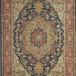 """Karastan - Karastan Original Karastan 700-00701 (Navy Heriz) 8'8"""" x 12' Rug - Inspired by prized museum pieces and antiques, the Original Karastan Collection of rugs is recreated from Persian, Turkoman, and other handwoven orientals while maintaining authenticity to the finest detail. Each rug is Axminster woven through-the-back of the finest imported skein-dyed and lustre washed worsted wool yarns. Empress Kirman is part of the Original Karastan collection."""