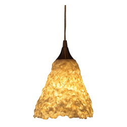immerLit - Sculptural Porcelain Pendant Light, Angular - Modern in it's 'complex simplicity', this fixture will be a standout accent in any space.