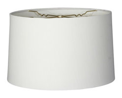"""""""Royal Designs, Inc"""" - Shallow Drum Hardback Lampshade - """"This Shallow Drum Hardback Lampshade - White 15 x 16 x 10 is a part of Royal Designs, Inc. Timeless Hardback Lampshade Collection and is perfect for anyone who is looking for a simple yet stunning lampshade. Royal Designs has been in the lampshade business since 1993 with their multiple shade lines that exemplify handcrafted quality and value."""