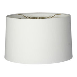 """Royal Designs, Inc"" - Shallow Drum Hardback Lampshade - ""This Shallow Drum Hardback Lampshade - White 15 x 16 x 10 is a part of Royal Designs, Inc. Timeless Hardback Lampshade Collection and is perfect for anyone who is looking for a simple yet stunning lampshade. Royal Designs has been in the lampshade business since 1993 with their multiple shade lines that exemplify handcrafted quality and value."