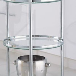 Round Serving Cart - If you have a small space, bar carts are a great way to keep drinks and bar accessories handy. At the same time, they're perfect for large houses: just roll the cart to where your guests are sitting and let them serve themselves.