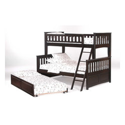 Night & Day Furniture - Night and Day Ginger Bunk Bed - Add Underbed Drawer Set - Catch me if you can, I'm the ginger-bed kid! Okay, sorry, that's pretty bad. But this twin full bunk bed really is the best, it's sweet! the ginger twin full bunk speaks for itself; just think of the sheer kid capacity!