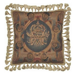 """EuroLux Home - New Aubusson Throw Pillow 20""""x20"""" Classic - Product Details"""