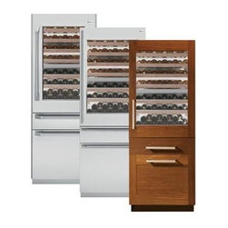 """GE Monogram 30"""" Fully Integrated Wine Refrigerator - The 30"""" fully integrated wine refrigerator, ZIW30GNZII, from GE Monogram is the perfect storage for a wine collection. The refrigerator features a two zone upper compartment, a convertible lower drawer, and a freezer drawer with icemaker.  It is panel ready, and can accept custom panels to integrate seamlessly with the kitchen cabinetry."""