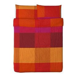 Monika Mulder - BRUNKRISSLA Duvet cover and pillowcase(s) - Duvet cover and pillowcase(s), red
