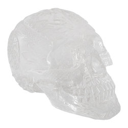 Zeckos - Highly Detailed Clear Acrylic Celtic Human Skull Figure Statue - This intricately detailed human skull figure is covered in symmetrical Celtic knot patterns as well as other Celtic designs, such as lions, snakes and crosses. Made of crystal clear acrylic, the figure stands 4 1/2 inches tall, is 6 1/2 inches deep, and 4 1/4 inches wide. This unique skull looks great on bookcases, shelves, tables, and desks and a dark background really brings out all the details in the designs. It makes an awesome Halloween decoration, and is a great gift for any skull lover.