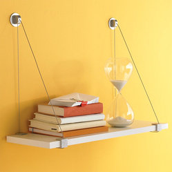 Cable Brackets with White Melamine Shelf