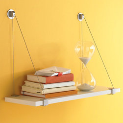 Cable Brackets with White Melamine Shelf - These cable shelves come in all sorts of sizes. I love that they are super slim but can still support up to 100 pounds of weight.