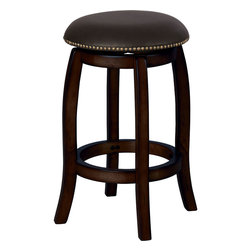 "Acme Furniture - Chelsea Leather Swivel Counter Height Stool in Espresso - Chelsea Leather Swivel Counter Height Stool in Espresso; Finish: Espresso; Weight Capacity Limit: 250Lbs; Dimensions: 24"" Seat Height"