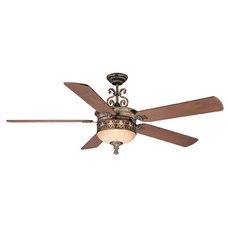 Savoy House Salon San Fernando 3 Light Ceiling Fan in Burnished Gold 68-588-5WA-