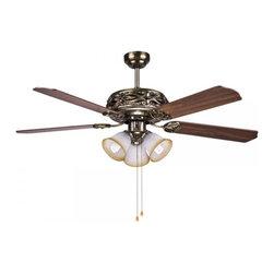 "ParrotUncle - Hampton Bay Bronze Ceiling Fan Light 52"" with Manual Pull Chain - Hampton Bay Bronze Ceiling Fan Light 52"" with Manual Pull Chain"