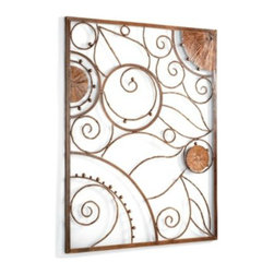 Garden Plaque Outdoor Wall Art - Dinner on the porch? Yes, let's! And how about we spruce up that boring brick with a bit of outdoor wall art? There, that's better.