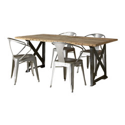 Just Goes Against Your Grain Knot This Industrial Style Dining Table