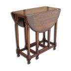 EuroLux Home - New Accent Table Oak Colonial Oak Drop Leaf - Product Details