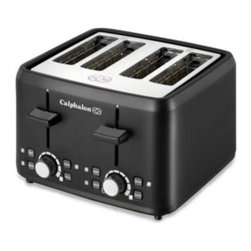 Calphalon - Calphalon Black 4-Slice Toaster - This Calphalon toaster makes preparing breakfast a snap thanks to four extra-wide slots that accommodate bagels, English muffins, and even thick slices of artisan breads.