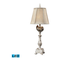 Dimond Lighting - Dimond Lighting Tilden Table Lamp in Chalk w/ Gold Highlight - LED Offering Up T - Table Lamp in Chalk w/ Gold Highlight - LED Offering Up To 800 Lumens belongs to Tilden Collection by Dimond Lighting Lamp (1)