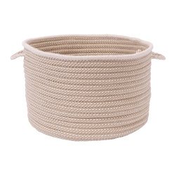 """Colonial Mills, Inc. - Boat House, Natural Utility Basket, 18""""X12"""" - Stow, stow, stow your stuff! This braided utility basket keeps all kinds of items — toys, magazines, whatever — nice, neat and right within reach. You'll never trip over clutter again."""