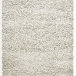 iCustomRug - Dixie Shag Rug, White, 6'x9' - Great fashion combined with a luxuriously soft fiber is what you will get with this shag. Constructed from polyester, this rug features an ultra dense pile that is easy to clean, maintain, and very durable. This comfortable shag feels great on bare feet and will bring warmth to your decor, making it perfect for any room in your home.