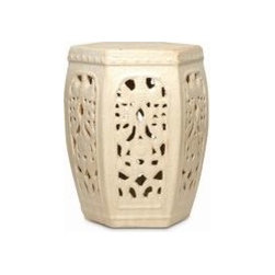 Asian Hexagon - Garden Stool -