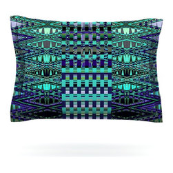 """Kess InHouse - Nina May """"New Kilim Seafoam"""" Teal Pillow Sham (Cotton, 40"""" x 20"""") - Pairing your already chic duvet cover with playful pillow shams is the perfect way to tie your bedroom together. There are endless possibilities to feed your artistic palette with these imaginative pillow shams. It will looks so elegant you won't want ruin the masterpiece you have created when you go to bed. Not only are these pillow shams nice to look at they are also made from a high quality cotton blend. They are so soft that they will elevate your sleep up to level that is beyond Cloud 9. We always print our goods with the highest quality printing process in order to maintain the integrity of the art that you are adeptly displaying. This means that you won't have to worry about your art fading or your sham loosing it's freshness."""