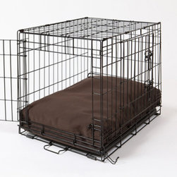 Crate Covers & More - Rectangular Dog Bed & Bed Cover - Dark Chocolate Multicolor - RECDARKDOG22 - Shop for Accessories and Parts from Hayneedle.com! Your dog deserves the best. The Rectangular Dog Bed & Bed Cover - Dark Chocolate gives your pup a comfy bed and handsome chocolate brown cover. Best of all the whole thing is a snap to wash. Simply unzip and toss the cover into the washing machine and hand-wash and air-dry the dog bed. Viola! This set includes both the waterproof hypo-allergenic polyfill dog bed and the super soft 200 denier nylon bed cover. It comes in a variety of sizes to fit your dog crate (dog crate not included). Sizes: (each size comes with white pillow bed and removable dark chocolate bed cover) X-Small: Fits crates 14W x 22D inches Small: Fits crates 21W x 25D inches Medium: Fits crates 21W x 30D inches Large: Fits crates 24W x 36D inches X-Large: Fits crates 28W x 42D inches XX-Large: Fits crates 30W x 48D inches About Crate Covers and MoreCrate Covers and More provides stylish dog crate covers dog bed covers and sofa covers. These covers allow dog owners to make their dog more comfortable while enhancing their home decor. Dogs feel safe and protected when their kennel or crate is covered which means they won't bark. When your dog's crate is covered you get to enjoy your pup as well as your choice of a wide variety of contemporary color and pattern options. Dog trainers recommend Crate Covers and More items because they make kennel training easier. All Crate Covers and More covers are made of high quality fabrics in America.