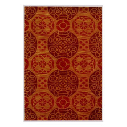 Safavieh - Twiggy Hand Tufted Rug, Cinnamon 8' X 10' - Construction Method: Hand Tufted. Country of Origin: India. Care Instructions: Vacuum Regularly To Prevent Dust And Crumbs From Settling Into The Roots Of The Fibers. Avoid Direct And Continuous Exposure To Sunlight. Use Rug Protectors Under The Legs Of Heavy Furniture To Avoid Flattening Piles. Do Not Pull Loose Ends; Clip Them With Scissors To Remove. Turn Carpet Occasionally To Equalize Wear. Remove Spills Immediately. Safavieh's artistry is vividly displayed in the Wyndham collection with designs ranging from contemporary florals to traditional global motifs. Each richly-hued rug is hand-tufted by master weavers in India of top quality wool. Several designs recreate the one-of-a-kind look of fashionable over-dyed antique rugs using a special multi-colored yarn that is meticulously colored using ages-old pot dyeing techniques. After the dye is carefully applied to each strand of wool, touches of organic viscose are added for soft silky luster as special highlights accents.