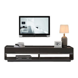 B-Modern - B-Modern Designer TV Stand, Grey - The Designer takes modern design to a whole new level; creative, fashionable, and fun. This model is designed by the B-Modern Design team in Los Angeles, CA. It features straight edge accents with smooth curves, emphasizing the uniqueness of its design. With its white/grey high gloss finish accented with a tempered black glass top and soft-closing white/grey high-gloss drawers, the Designer is set to be the spotlight of any entertainment center.