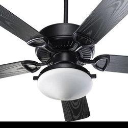 Joshua Marshal - Two Light Matte Black Outdoor Fan - Two Light Matte Black Outdoor Fan